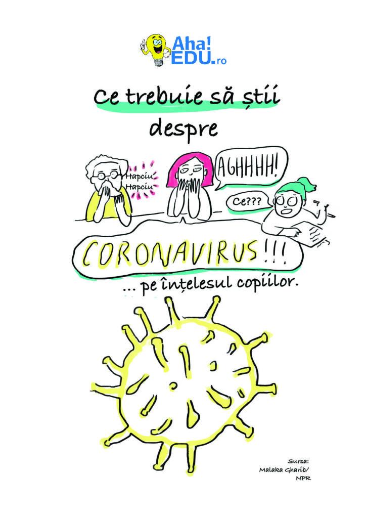 Corona virus pe intelesul copiilor - Ce trebuie sa stii despre