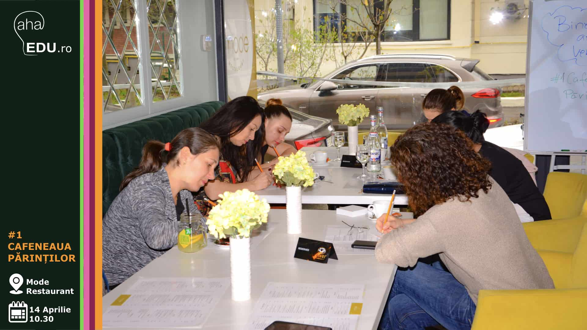 cafeneaua parintilor aha eveniment aha edu masa de discutii